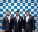 피나블러 경영진(사진 좌에서 우로) 비나이 셰티 전무이사, B.R. 셰티 창립자 겸 CEO, 프로모스 망가트 전무이사