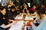 자아학교 김민지 교감이 자아학교의 대표수업 자아발견을 강의하고 있다