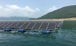 설치된 수상 태양광 발전 시설
