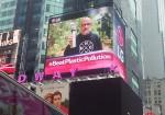뉴욕타임스퀘어 LG전자 전광판 환경보호 캠페인 영상