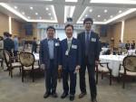왼쪽부터 세이프어스드론 강종수 대표, 한국전기산업진흥회 장세창 회장, 세이프어스드론 이종현 이사