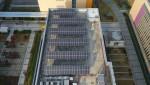 삼성전자 수원사업장 소재단지 옥상에 설치된 태양광 발전 패널
