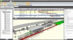 Synchro 4D construction modeling of Crossrail Station. Image courtesy of Bentley Systems