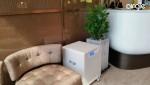 잠실 롯데면세점 LVVIP 라운지에 설치된 에어글 공기청정기