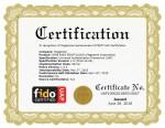 컨소시엄 국제 표준기구 FIDO(Fast Identity Online)의 공식 인증 자격(FIDO Certification™)을 받은 메가존