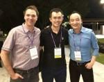 왼쪽부터 리브라크레딧의 공동창업자 Dan Schatt, 바이낸스 CEO Zhao Changpeng, 리브라크레딧의 공동창업자 Lu Hua