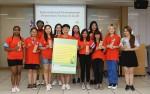 환경보호 포럼에 참가한 각국의 청소년 대표들