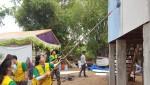 건국대 학생들로 구성된 컴브렐라 해외봉사단이 여름방학을 맞아 캄보디아 시엠립 지역에서 현지 주민들을 위한 사랑의 집짓기 해외 봉사활동을 펼쳤다
