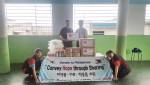 한국청소년연맹이 필리핀 바세코 지역 빈곤 아이들에 후원물품을 전달했다