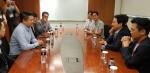 8월 3일 후오비 코리아 조국봉 의장과 원희룡 제주도특별자치 도지사는 블록체인 비즈니스 허브 조성을 위한 미팅을 가졌다
