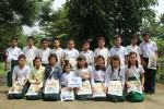 미얀마 빤따노 지역 바잉지따이꽁 학교 삼성전자 한국총괄 에코백 완성품 전달