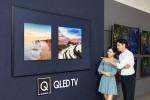 삼성 디지털프라자 용인구성점의 새롭게 단장한 QLED TV 존