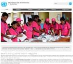 유엔 홈페이지 내 국제 민주주의의 날 관련 게시물