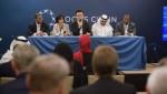 LOCUS CHAIN WORLD SUMMIT SINGAPORE 행사일 오전에 열린 미디어 컨퍼런스 행사에서 질문에 답하고 있는 로커스체인 파운데이션 이상윤 대표이사