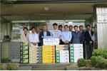 농림수산식품교육문화정보원이 추석을 맞아 인근 재활시설에 우리 농산물을 기증했다