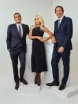 L-R: Jonathan Akeroyd, Donatella Versace, John D. Idol
