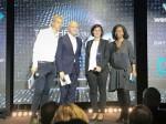 슈나이더 일렉트릭이 eCAC40을 수상했다. 왼쪽부터 EU 집행위원회의 프랑스 디지털 챔피언 질 바비네(Gilles Babinet), 레제코-르파리지엥(Les Echos-Le Parisien Group) 그룹 CEO 피에르 루에트(Pierre Louette), 슈나이더 일렉트릭 프랑스 사장 크리스텔 헤이드만(Christel Heydemann), 레제코(Les Echos) 편집장 뮤리엘 자소(Muriel Jasor)