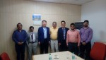 KERI 김맹현 시험부원장(왼쪽 3번째)을 비롯한 관계자들이 인도 민간 중전기기 제조사인 CnS Electric Ltd을 방문해 시험인증 홍보 활동을 진행했다