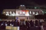 서울광장에서 서울거리예술축제 2018 폐막작인 새로운 메시지가 도착했습니다가 공연되고 있다