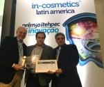 홀스터의 식물 추출 활성원료 블루 올레오액티프가 인-코스메틱스 라틴 아메리카 박람회에서 은상을 수상했다