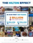 힐튼이 2019년 회사 창립 100주년을 앞두고 호텔 기업이 세계에 미친 영향 분석한 서적 힐튼 효과를 출간했다
