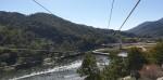 짚라인곡성 출발지에서 섬진강 건너편 도착지를 향해 바라본 풍경