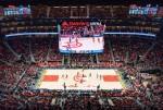 삼성전자가 NBA 경기장에 설치한 360 LED 스크린