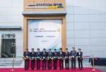 韓国電力公社の新栄州変電所と新忠州変電所にそれぞれ400Mvar級STATCOMを設置して竣工式を行った. STATCOM竣工記念式は韓国電力公社の新栄州変電所で韓国電力公社のギムサンジュン所長(左から6番目)と暁星重工業のソンウォンピョ専務(左から5番目)など韓電と暁星の関係者が参加して行った.