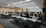 연구행정통합시스템 교육을 듣고있는 산학협력단 관계자들