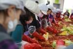 사랑의 김장 나누기 행사에 참여한 자원봉사단