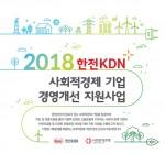 사회연대은행·한전KDN 2018 한전KDN 사회적경제 기업 경영개선 지원 사업 공개 모집