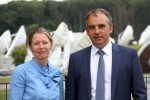Corinne Mailles Deputy General Manager of Telespazio France & Patrick Biewer, CEO of GovSat