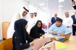 셰이크 사우드 빈 사크르 알 카시미 국왕이 라스 알 카이마 아메리칸 대학교의 라크뱅크 빌딩 개관식에서 학생들을 만났다
