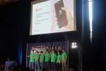 스카이덱이 개최한 데모데이에 참가한 쿨잼컴퍼니의 팀원들