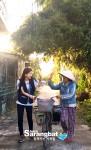 함께하는 사랑밭 홍보대사 배우 오인혜가 린의 가정을 찾아 봉사활동을 진행했다