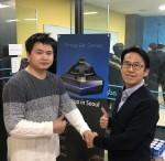 VR 아이트래킹 모듈 제작 협력을 위한 협약을 체결한 비주얼캠프와 파이맥스