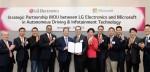 LG전자가 마이크로소프트와 인공지능 자율주행 SW 개발을 위한 업무협약을 체결했다