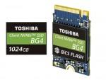 도시바 메모리 코퍼레이션 1TB 싱글 패키지 PCIe® Gen3 x4L SSD 제품과 96 레이어 3D 플래시 메모리