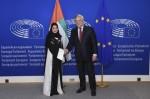 안토니오 타자니 유럽의회 의장과 아랍에미리트 연방평의회 대변인 아말 알 쿠바이시 박사