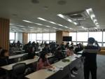웹케시가 진행한 2018년 귀속 연말정산 신고 설명회에서 참석자들이 교육을 듣고 있다