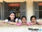 배우 오인혜가 초당대학교와 함께 캄보디아 해외 봉사를 시행했다