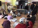 코리아텍 특성화사업추진위가 천안지역아동센터를 찾아 개최한 창의과학 교실 현장
