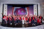 마카오 윈팰리스에서 열린 산펠레그리노(S.Pellegrino)와 아쿠아 파나(Acqua Panna) 공식 후원 제7회 '아시아 베스트 레스토랑 50' 시상식에서 수상한 셰프들과 레스토랑 관계자들이 축하하고 있다