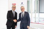ABB CEO Ulrich Spiesshofer and Börje Ekholm, President and CEO, Ericsson signed MoU at Hannover Messe 2019