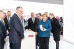 From right to left: Angela Merkel, Federal Chancellor; Stefan Löfven, Prime Minister of Sweden; Ulrich Spiesshofer, CEO ABB; Bernd Althusmann, Economic Minister of Lower Saxony; Stefan Weil, Prime Minister Lower Saxony; Hans-Georg Krabbe, Managing Di