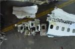 위버링겐 항공사고 현장 잔해. 출처, 독일연방항공사고조사위원회 보고서