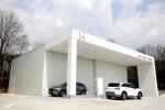현대자동차 안성휴게소에서 수소충전소 개소식을 갖고 본격적인 충전소 운영을 시작한다