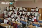 배냇저고리 만들기 봉사에 참여한 복자여자고등학교 2학년 학생들
