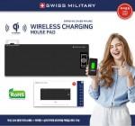 맥스컴코리아, 신개념 SWISS MILITARY 무선고속 충전 3in1 커넥터 내장 마우스장패드 출시