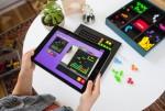 블록들을 보드판에 조합하여 게임을 만들 수 있는 블록셀. 보드판에 배치하여 블록셀 어플을 통해 게임으로 만들 수 있는 블록셀